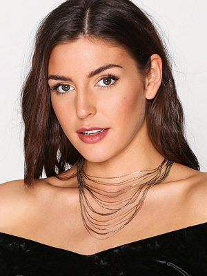 NLY Accessories halsband Multirow Gold Chain Necklace Guld