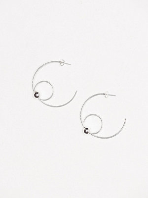 Pieces örhängen Pcroliva Creol Earrings Plated Silver