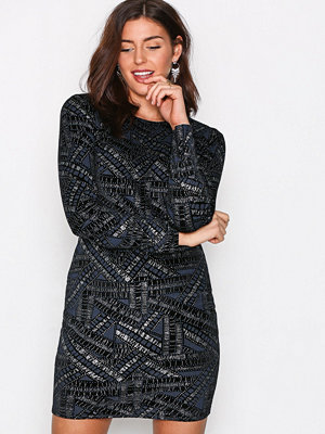 NLY Trend Famous Mini Dress Silver/Blue