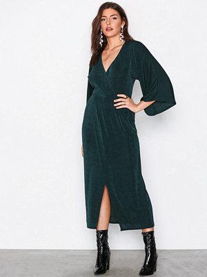 NLY Trend Kimono Wrap Dress Grön