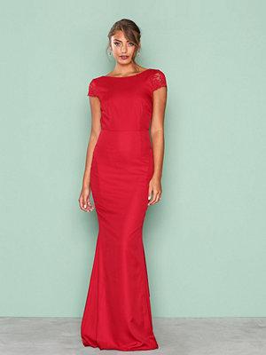 NLY Eve V Back Mermaid Gown Röd