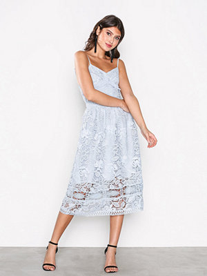 True Decadence Lace Sleeveless Dress Blue