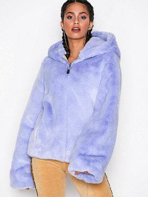Fuskpälsjackor - Fenty PUMA by Rihanna Faux Fur Shawl Collar Jacket Lila