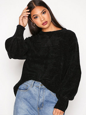 NLY Trend Puffed Sleeve Chenille Svart