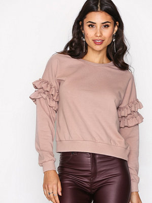 New Look Frill Sleeve Sweat Mink