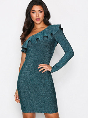NLY One One Sleeve Frill Dress Teal