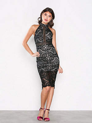 Love Triangle Faithful Midi Dress Black