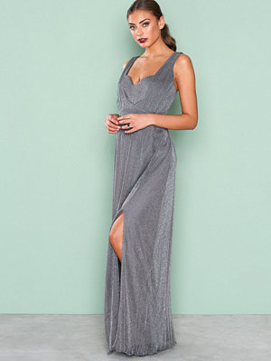Little Mistress Glitter Maxi Dress Slate