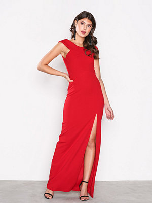Ax Paris Cross Bardot Maxi Dress Red