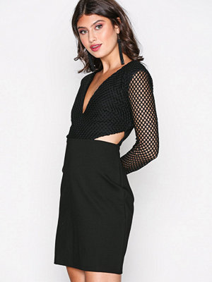 Glamorous Fishnet Dress Black