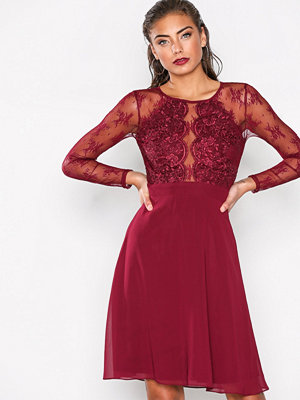 NLY Eve Whenever Lace Dress Burgundy