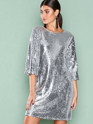NLY Trend Hang Loose Sequin Dress Silver
