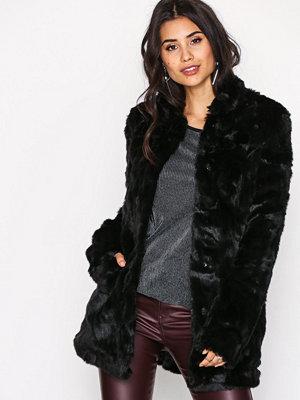 Only onlVIVA Fur Coat Otw Svart