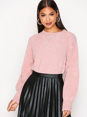 NLY Trend Puffed Sleeve Chenille Ljus Rosa