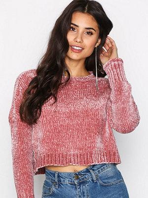 Only onlDICTE L/S Short Pullover Knt Rosa
