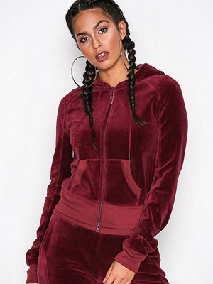 Fenty PUMA by Rihanna Velour Fitted Zip-Up Track Jacket Winetasting