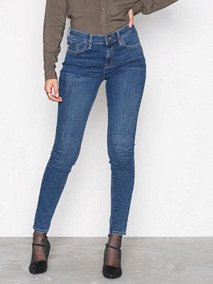 River Island Amelle Super Skinny Jeans Mid Blue