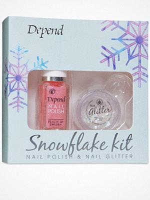 Naglar - Depend Snowflake Nail Kit Glitter Pink