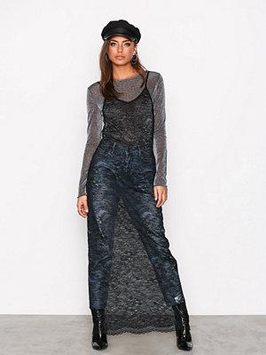 NLY Trend Maxi Sheer Dress Svart