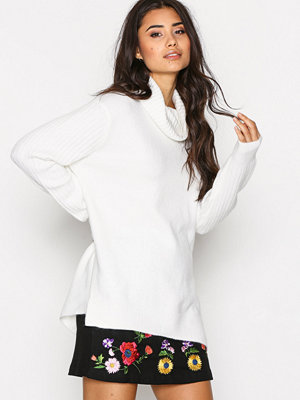 Topshop Funnel Neck Knitted Jumpe Ivory