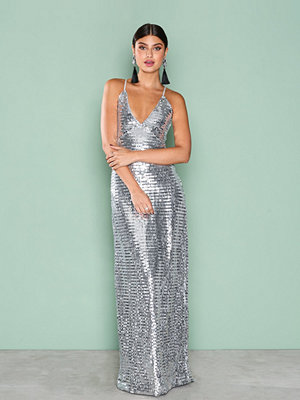 NLY Eve Slip In Sequin Gown Silver