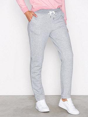 Gant ljusgrå byxor Gant Sweat Pants Grey Melange