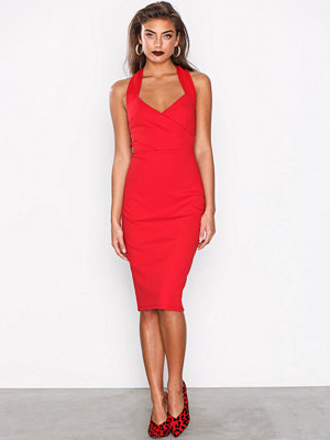 River Island Satin Mix Midi Dress Red