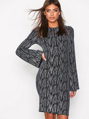 NLY Trend Sparkle Wide Mini Dress Svart/Silver