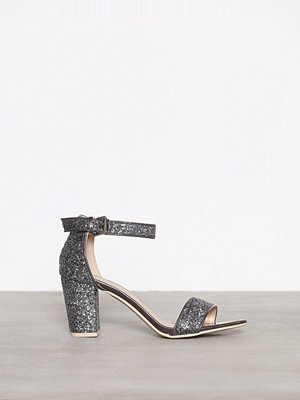 NLY Shoes Block Mid Heel Sandal Grå/Blå