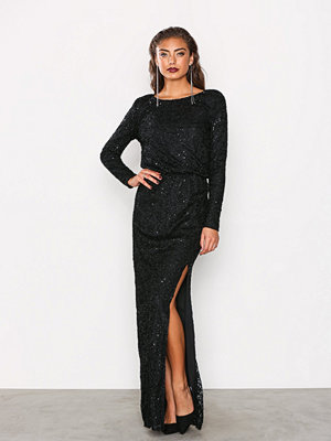 NLY Eve Sparkly Lace Gown Svart