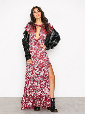 For Love & Lemons Flora Maxi Dress Berry