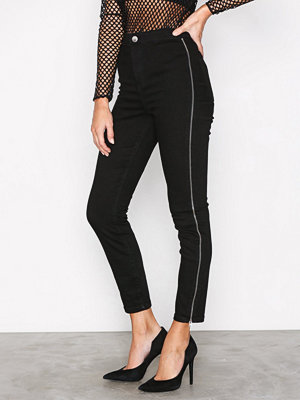 River Island Going Out Zip Jeans Black