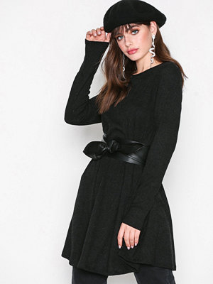 Glamorous Rib Dress Black
