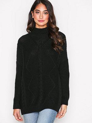 Only onlSYLVIA L/S Long Pullover Knt Svart
