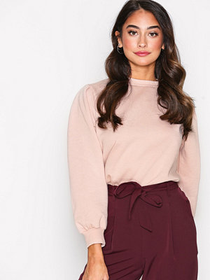 New Look Gathered Sleeve Sweater Light Beige