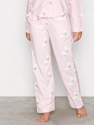Pyjamas & myskläder - NLY Lingerie Flannel Pyjama Pants Rosa Mönstrad