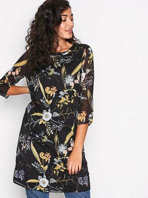 Only onlKATRINE Dress L/S Wvn Svart