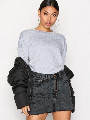Glamorous Denim Skirt Charcoal
