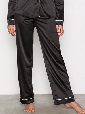 Pyjamas & myskläder - NLY Lingerie Satin Babe Pyjama Pants Svart