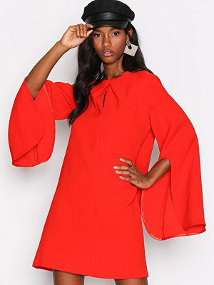 River Island LS Swing Dress Red