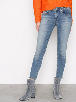 Selected Femme Sfida Mw Cropped Jeans Blue Water N Blå
