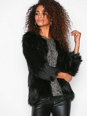 River Island Fur Coat Black