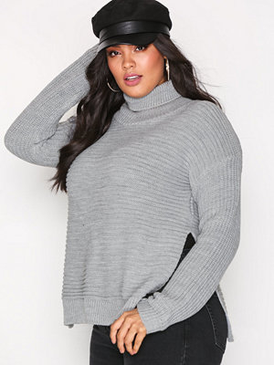 Missguided Roll Neck Knitted Jumper Grey