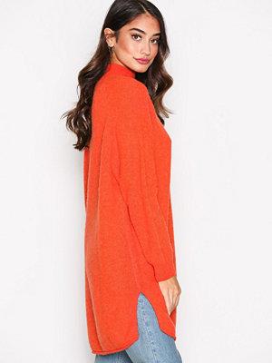American Vintage Robe COL Montant Orange