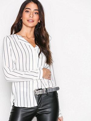 Selected Femme Slfdynella Stripe Ls Shirt Noos Mörk Blå