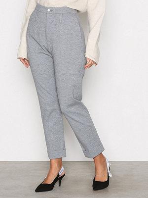 Hope ljusgrå byxor Law Trouser Grey Melange
