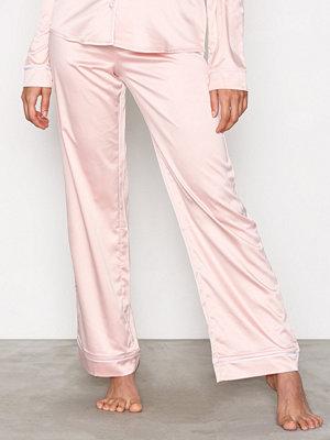 Pyjamas & myskläder - NLY Lingerie Satin Babe Pyjama Pants Dusty Pink