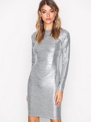 NLY Trend Shiny Mini Dress Silver