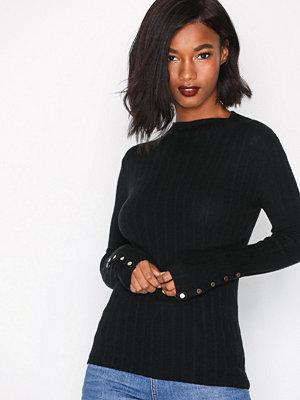 Topshop Funnel Neck Knitted Jumpe Black
