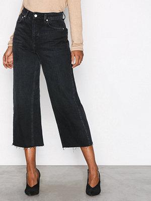 Topshop Moto Wide Leg Jeans Black